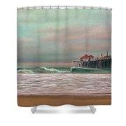 Huntington Beach Morning Shower Curtain