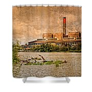 Huntly Power Station Shower Curtain