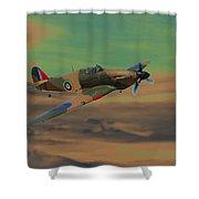 Hurricane Fighter Plane 2 Shower Curtain