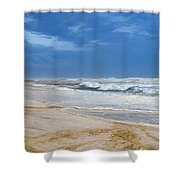 Hurricane Isaac Impacts Navarre Beach Shower Curtain