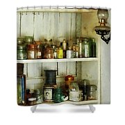 Hurricane Lamp In Pantry Shower Curtain