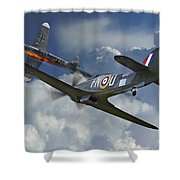 Hurricane Victory Shower Curtain