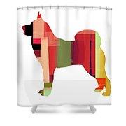 Husky Shower Curtain by Naxart Studio