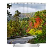 Hwy 281 In The Fall  Shower Curtain