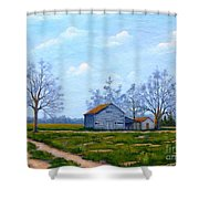 Hwy 302 Farm Shower Curtain
