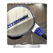Hybrid Vehicle Recharge Shower Curtain