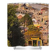 Hyde Street Cable Car Shower Curtain
