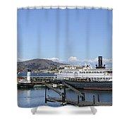 Hyde Street Pier - San Francisco Shower Curtain by Daniel Hagerman