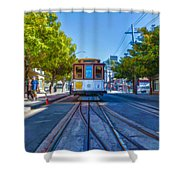 Hyde Street Trolley Shower Curtain