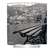 Hydra Black And White Shower Curtain