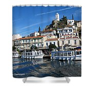 Greek Island Shower Curtain