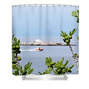 Hydra Island During Springtime Shower Curtain