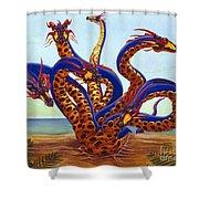 Hydra On Beach Shower Curtain