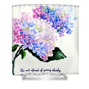 Hydranga Poem Shower Curtain