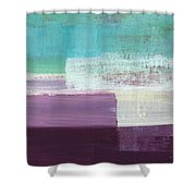 Hydrangea- Abstract Painting Shower Curtain