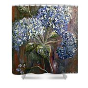 Hydrangea Bouquet At Dawn Shower Curtain