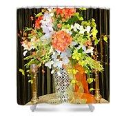 Hydrangea Centerpiece Artistic Shower Curtain