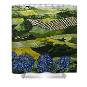 Hydrangea Valley Shower Curtain