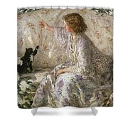 Hydrangeas, 1901 Shower Curtain