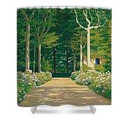 Hydrangeas On A Garden Path Shower Curtain