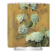 Hydrangeas Shower Curtain by Paul Cesar Helleu