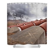 Hydroelectric Plant In Renewable Energy Concept Shower Curtain