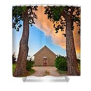 Hygiene Colorado Church Of The Brethren 1880 Sunset Shower Curtain
