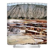Hymen Terrace Yellowstone National Park Shower Curtain