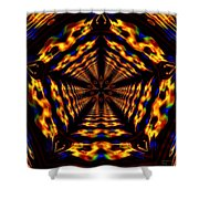 Hyper-jump Rainbow Portal No.5 Shower Curtain