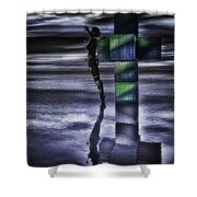 Hypercube Reflections Shower Curtain