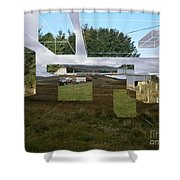 Hyperscape Shower Curtain