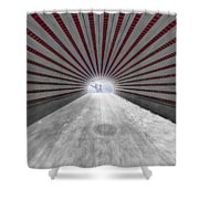 Hypnotic Playmates Arch Shower Curtain