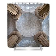 Hypostyle Room Ceiling In Park Guell Shower Curtain