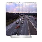 I-75 Knoxville At Dusk Shower Curtain