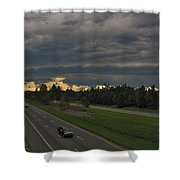I-85 Shelf Cloud Shower Curtain