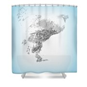 hold on to me before I'm flying away  Shower Curtain by Hilde Widerberg