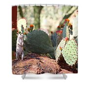 I Am Here Shower Curtain