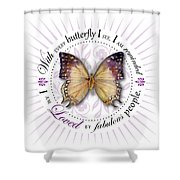 I Am Loved By Fabulous People Shower Curtain