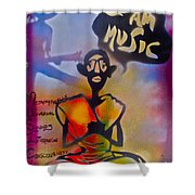 I Am Music #1 Shower Curtain