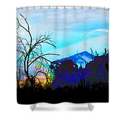 I Am And You Are The Moonset  Acknowledging And Accepting Our Past Mistakes- Autumn 1 Shower Curtain