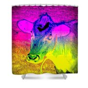 I Think I Am The Most Colorful Cow You Know  Shower Curtain