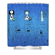 I Am What I Am Shower Curtain by Gianfranco Weiss