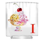 I Art Alphabet For Kids Room Shower Curtain