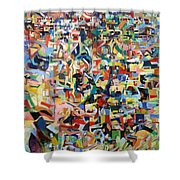 I Believe This And Understand It Fully Well 17 Shower Curtain by David Baruch Wolk