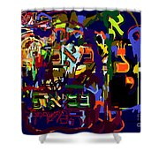 I Believe With Complete Faith In The Coming Of Mashiach 3 Shower Curtain by David Baruch Wolk