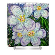 I Bloom With Courage Shower Curtain