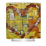 I Carry Your Heart Shower Curtain