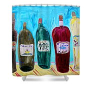 I Choose Wine By The Label Shower Curtain