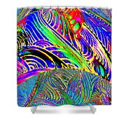 I Dreamed Of Neon Skies Shower Curtain