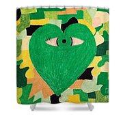 I Eye Love Green Shower Curtain
